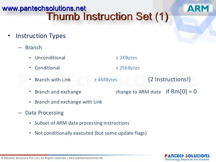 arm instruction branch if less than
