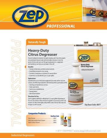 zep purple degreaser instructions