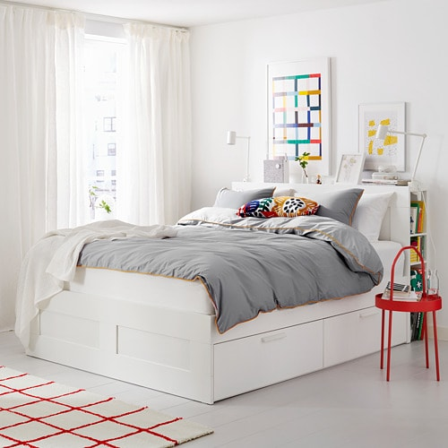 ikea queen bed frame assembly instruction