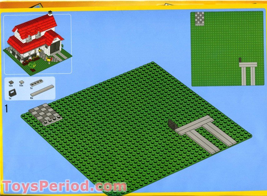 lego creator house instructions 4956