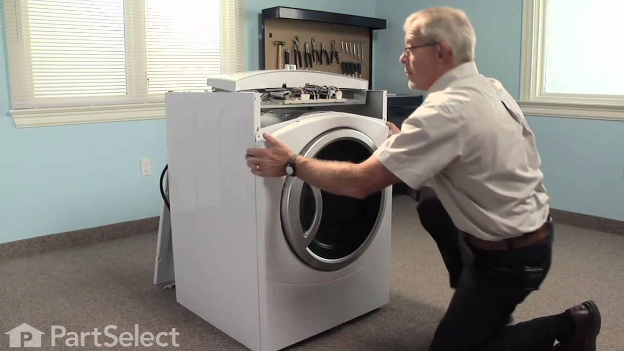 instructions to remove front panel from amana tandem 7300 dryer