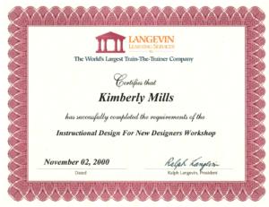 instructional design certificate online canada