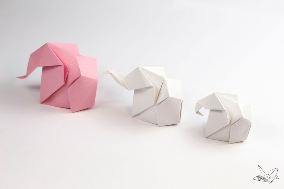 printable origami elephant instructions