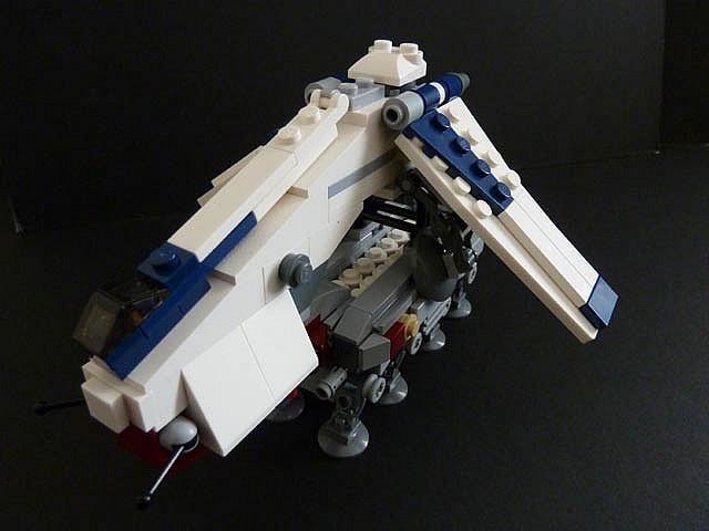 republic dropship with at-ot walker instructions
