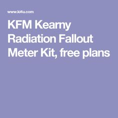 kearny fallout meter instructions