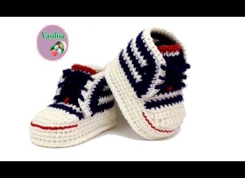 crochet converse slippers instructions