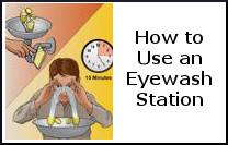 eye wash use instructions