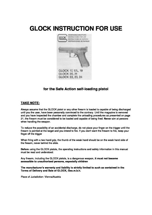 glock instruction manual pdf