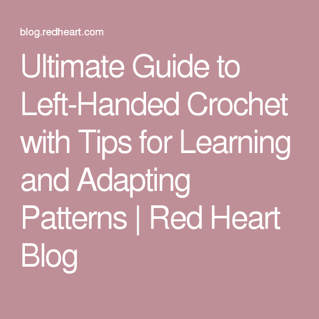 instructions for learning to crochet left handed