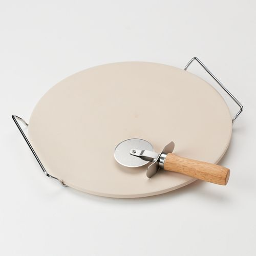 food network stoneware pizza set care instructions
