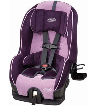 evenflo infant car seat strap instructions