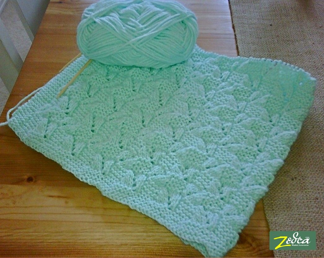 free instructions to knit a fishtail blanket