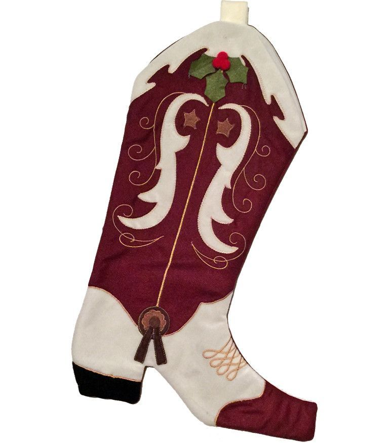 instructions cowboy boot christmas stocking