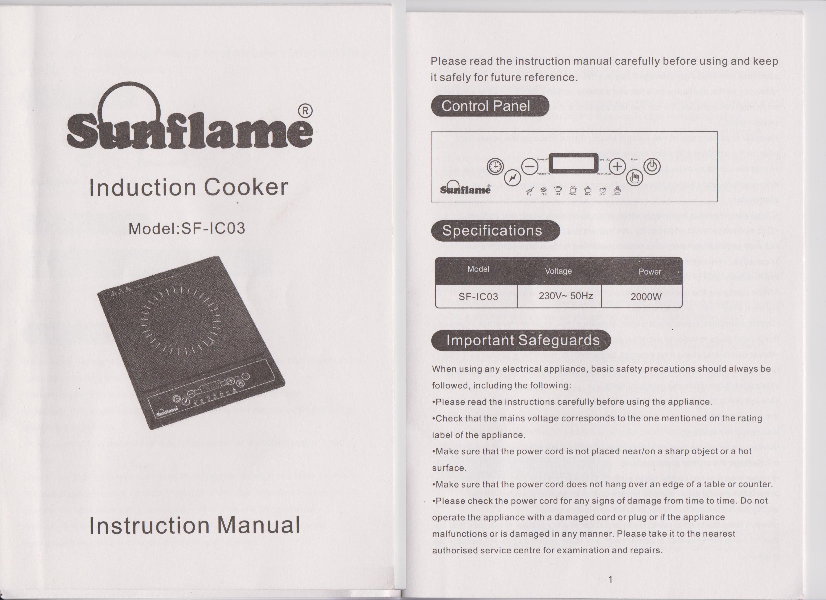 kelvinator oven instruction manual