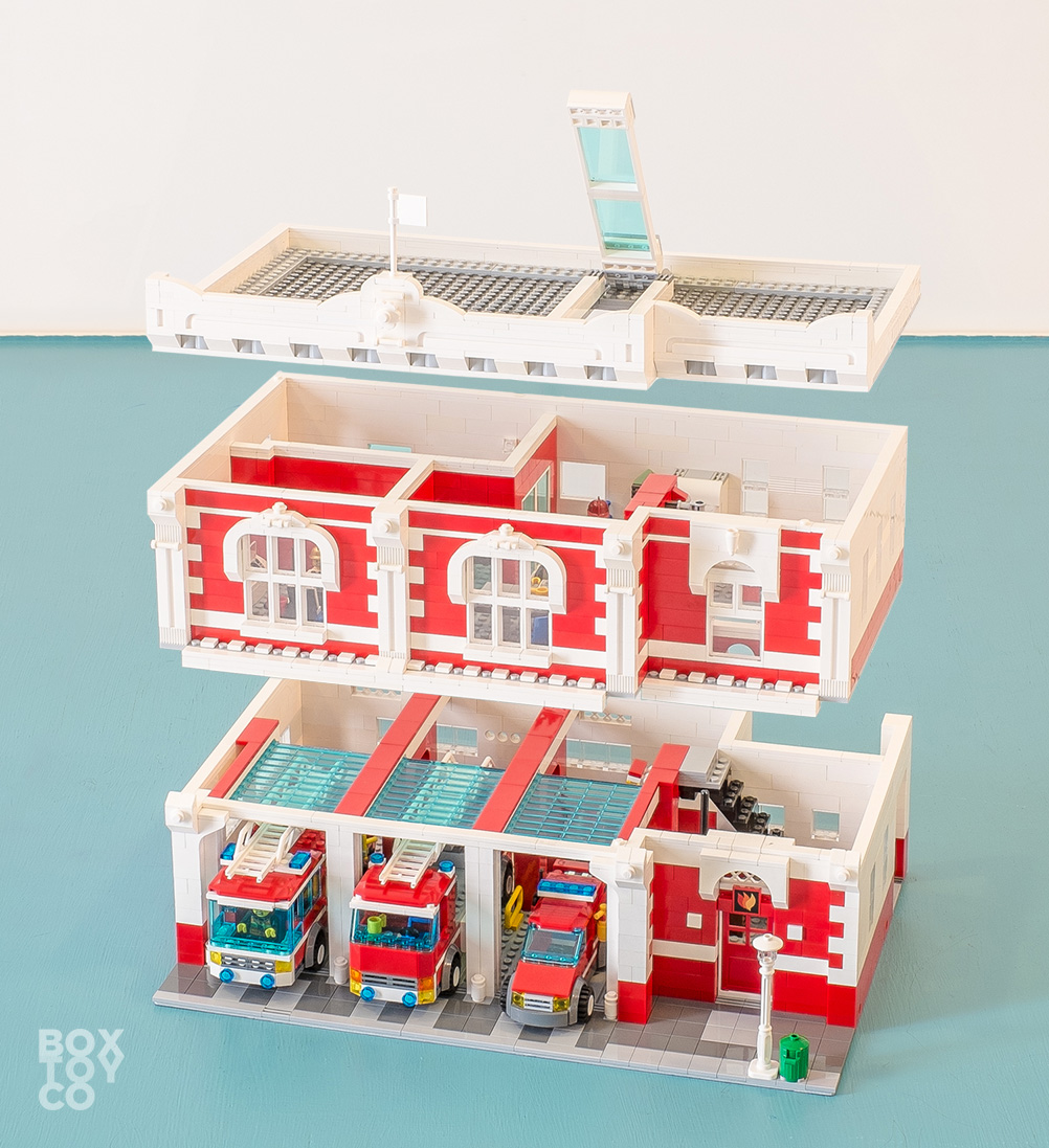 lego brick instructions fire station
