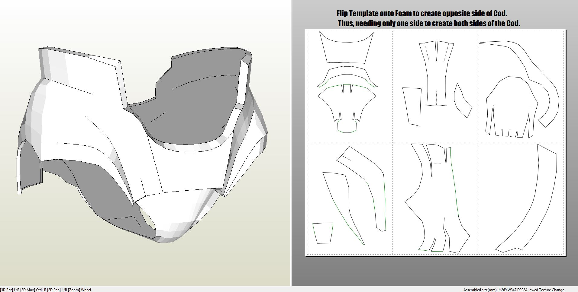 pepakura ironman helmet instructions