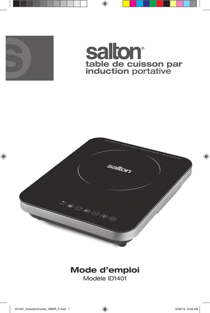 plaque cuisson induction salton instructions