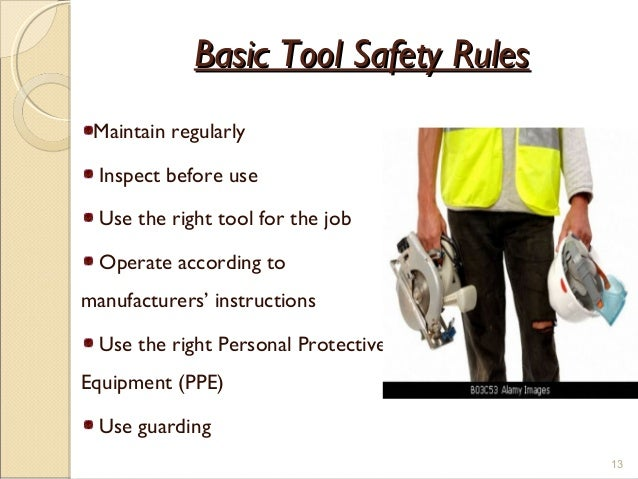 safe instructions for hand tool use